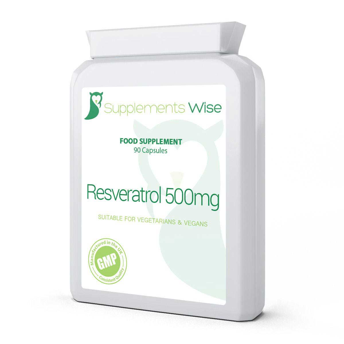 Resveratrol Capsules 90 X 500mg Supplements Wise